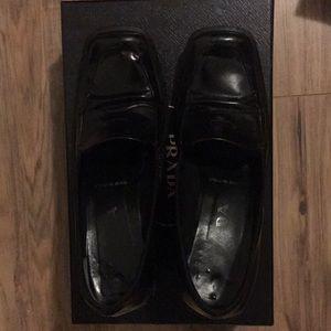 Prada high heel loafers
